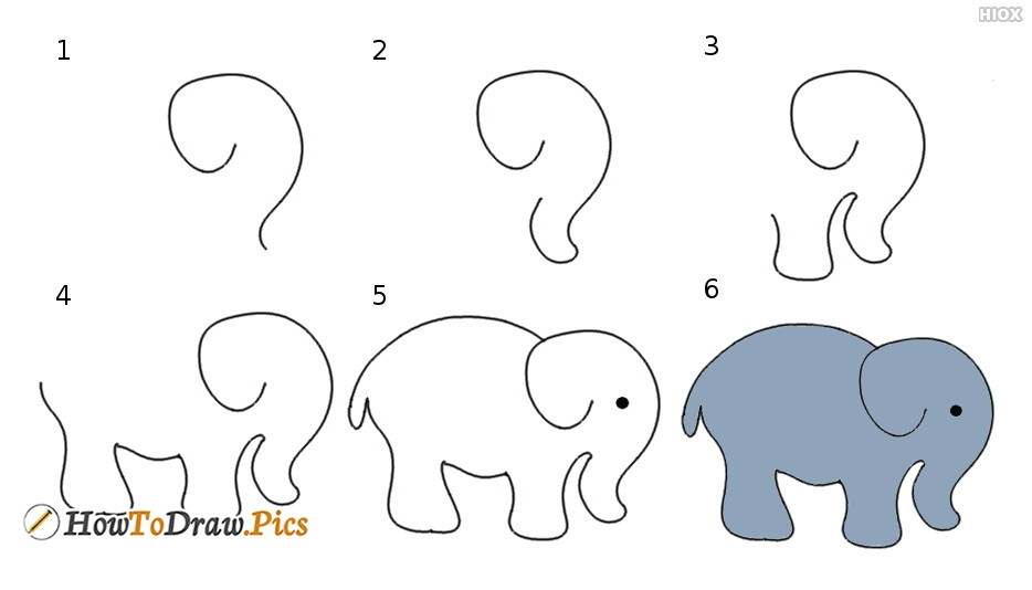 Elephant Drawing Instructions