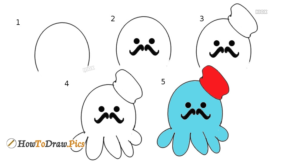 How To Draw Octopus Pictures | Octopus Step by Step Drawing Lessons