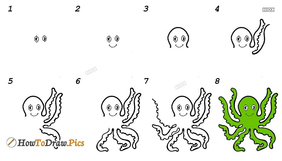 How To Draw An Octopus Kindergarten