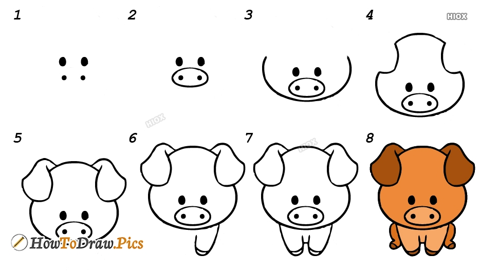 How To Draw A Piglet Step By Step Images