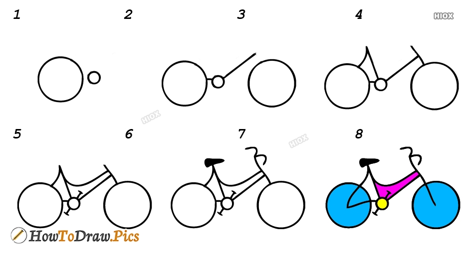 How To Draw Bike Step By Step Images, Pics