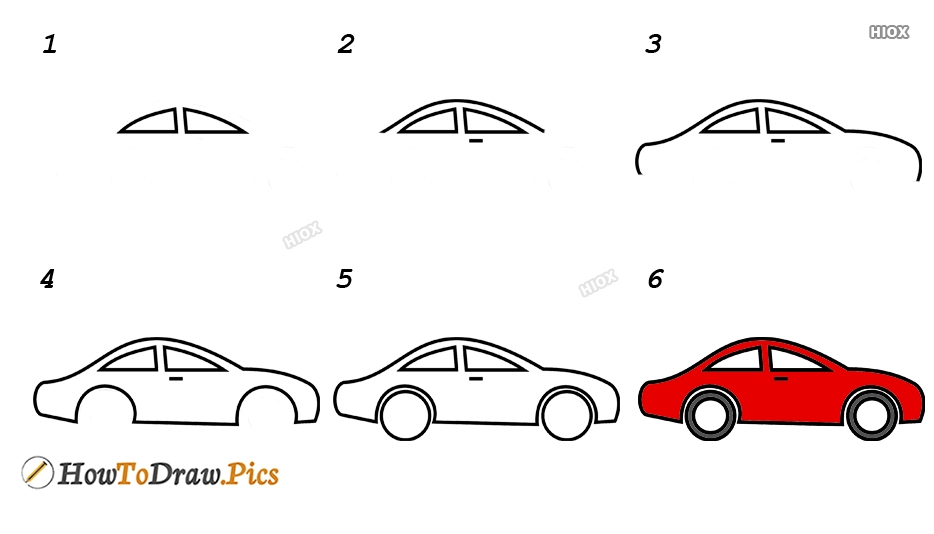 How To Draw Vehicles Step by Step Pictures