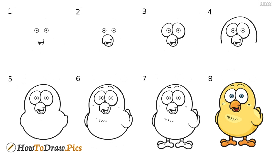 How To Draw Cartoon Bird