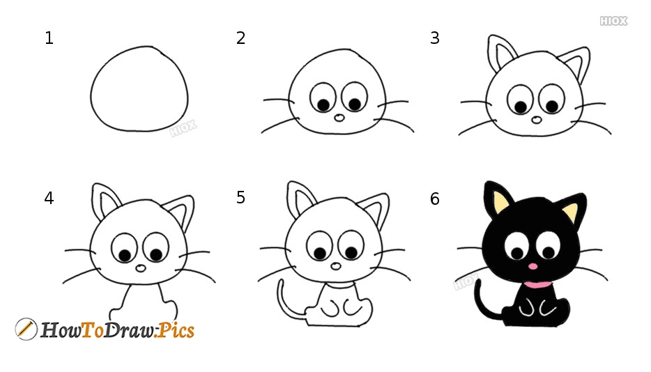 How To Draw Cartoon Choco Cat