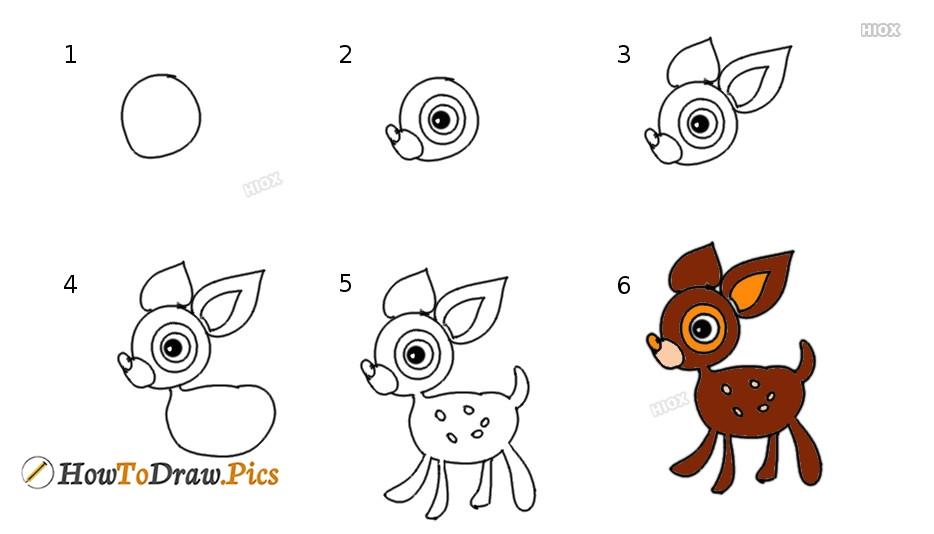 How To Draw Cartoon Deery Lou