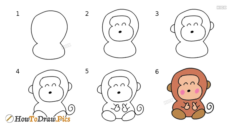 How To Draw Cartoon Monkichi