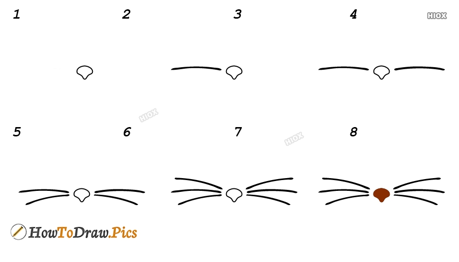 How To Draw Cat Whiskers On Face