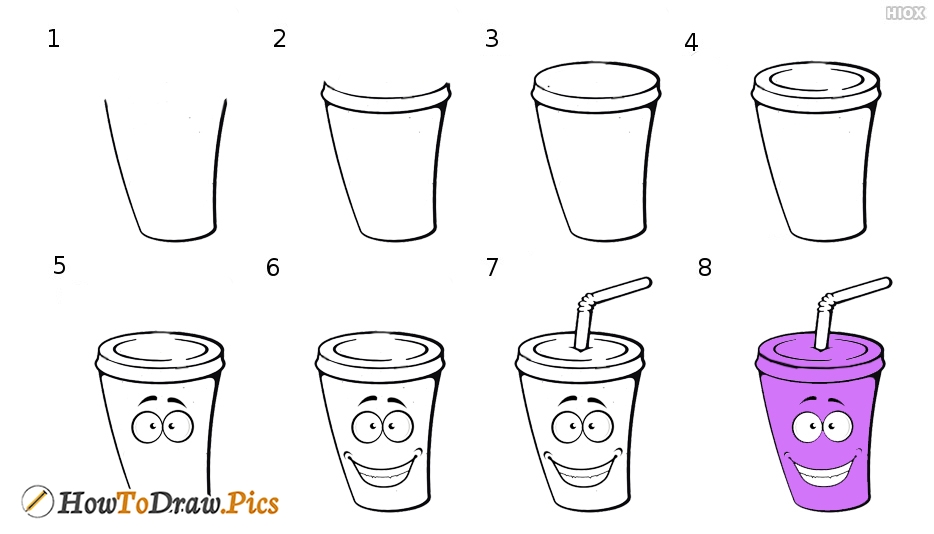 How To Draw Cute Cup Drink