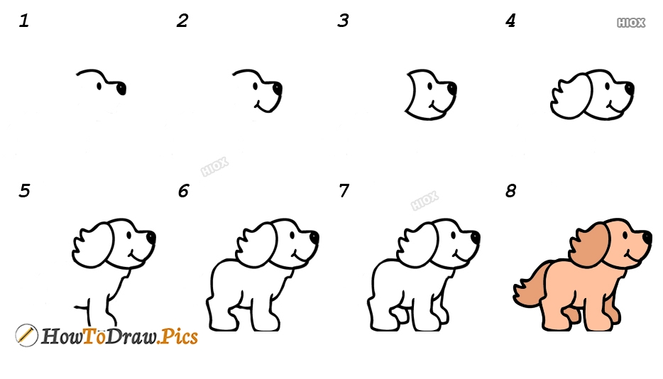How To Draw Cute Dog Step By Step