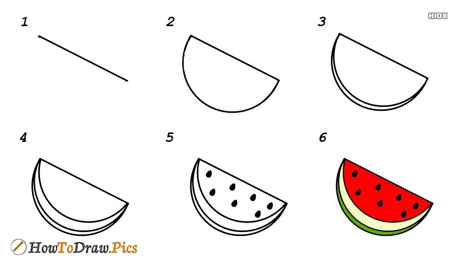 How To Draw Cute Watermelon