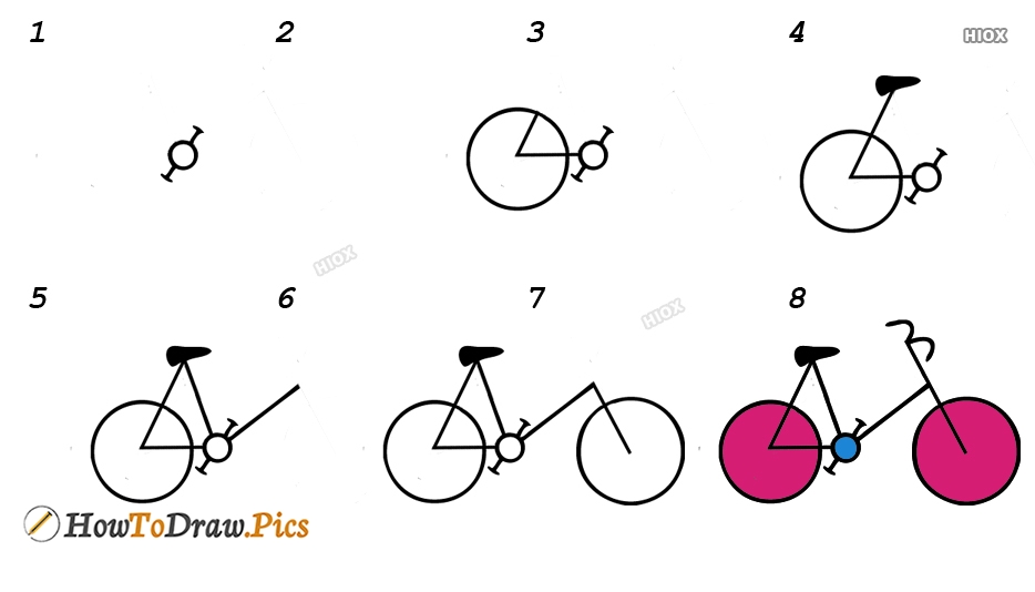 How To Draw Cycle Easy