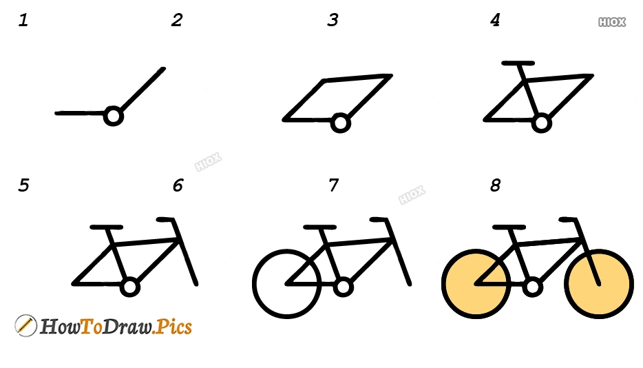 How To Draw Cycle For Kids