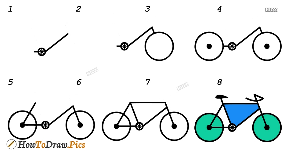 How To Draw Cycle In Easy Way