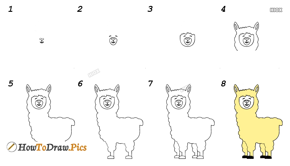 How To Draw Dj Llama