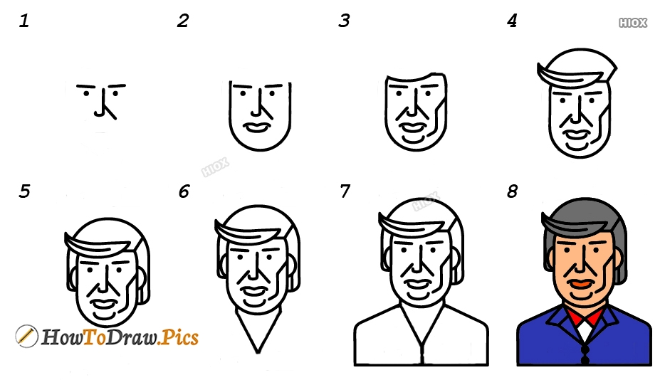 How To Draw Presidents Easy Pictures