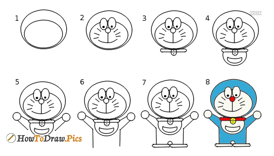 How To Draw Doraemon- Step By Step Drawing Tutorial