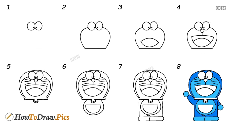 How To Draw Doraemon Step By Step Easy