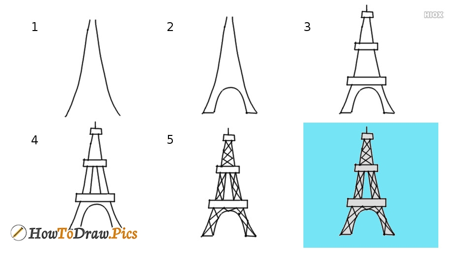 How To Draw Eiffel Tower