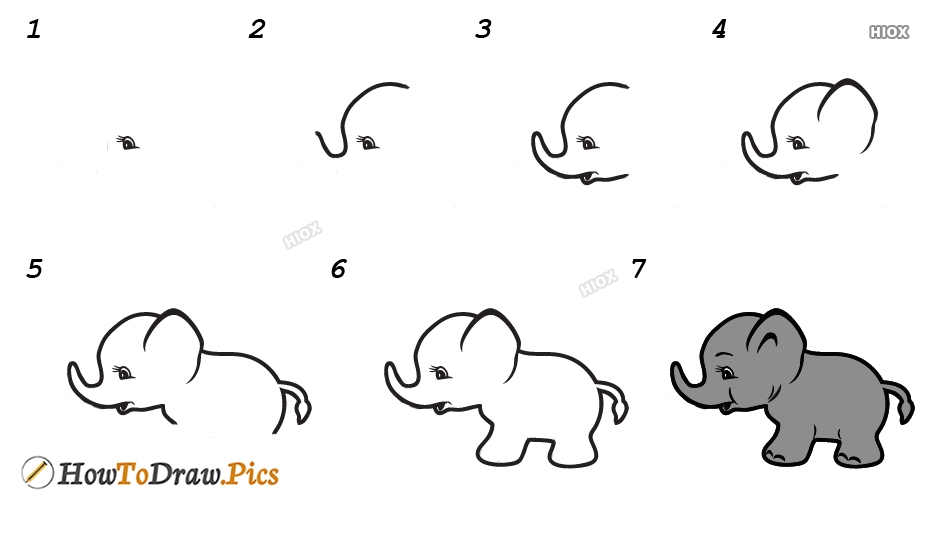 How To Draw Baby Animals Step By Step With Pictures