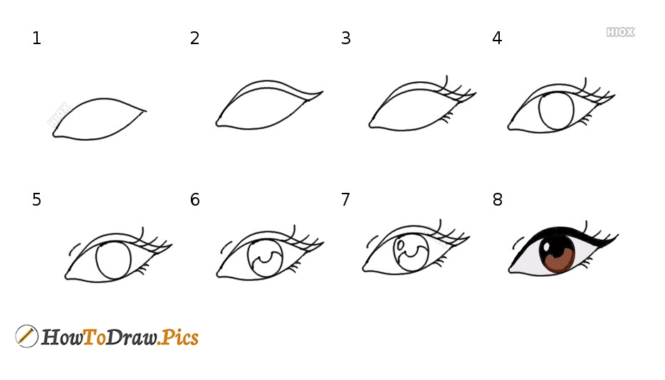 How To Draw An Eye | Easy Step By Step Drawing
