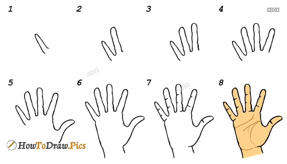 How To Draw Fingers Step By Step