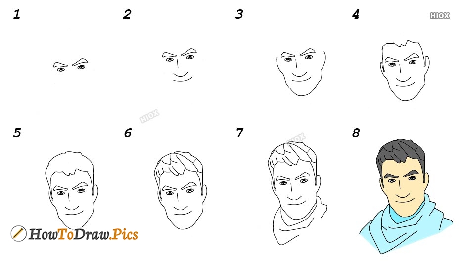 How To Draw Fortnite Characters Step By Step Images