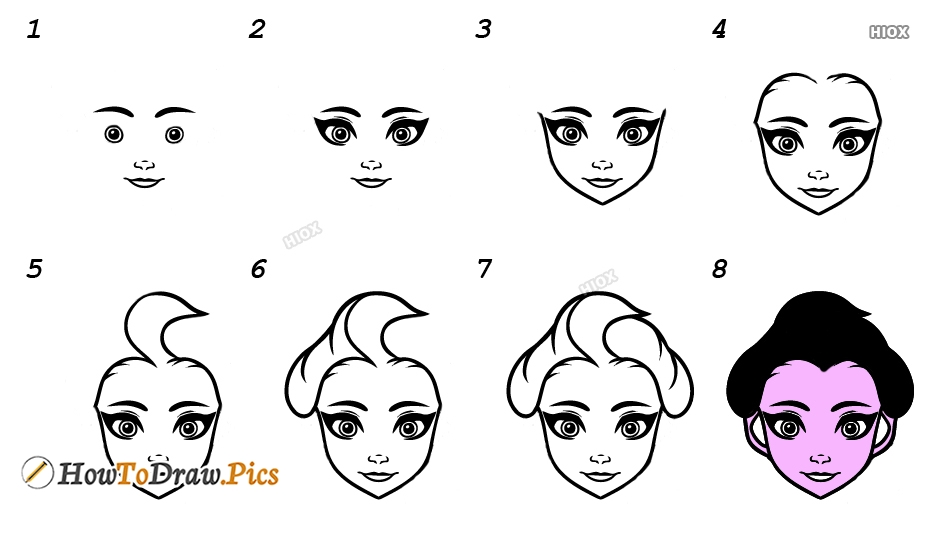 How To Draw Frozen Elsa Step By Step
