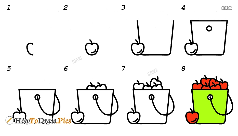 How To Draw Basket Step By Step Images