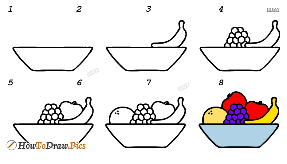 How To Draw Fruits Basket Step By Step