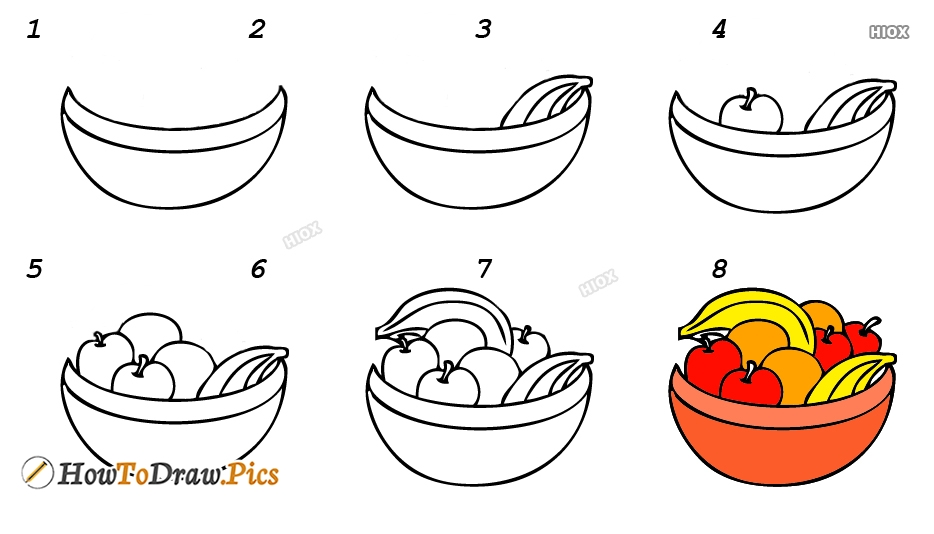 How To Draw Fruits For Kids