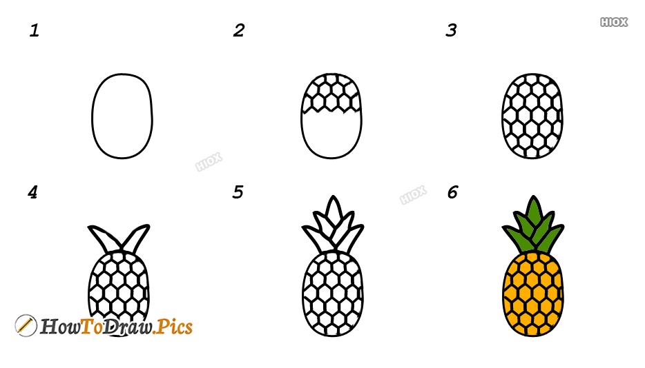 How To Draw Fruits Step By Step For Kids