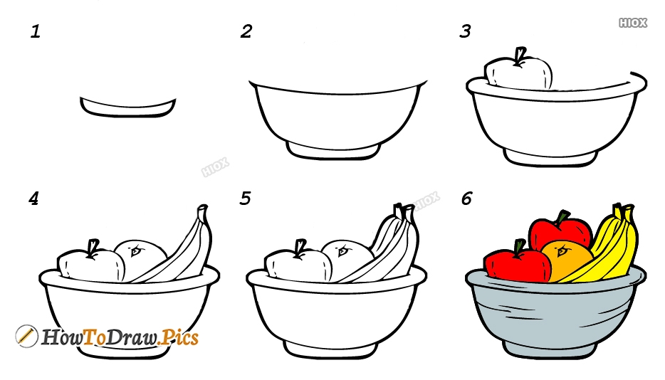 How To Draw Fruits Step by Step Pictures