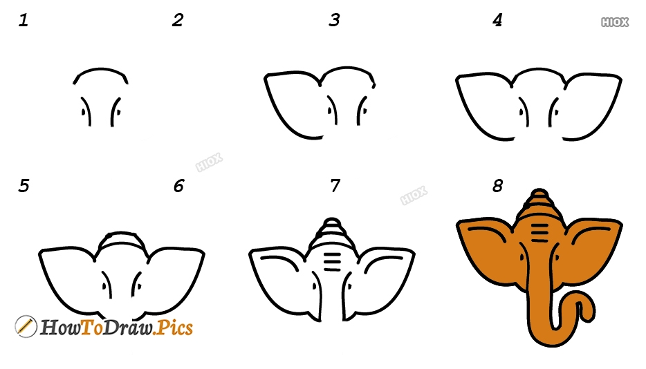 How To Draw Ganesha In Easy Way