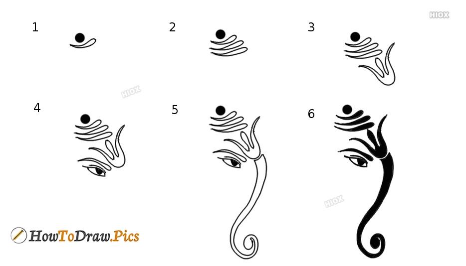 How To Draw Ganesha Tattoo