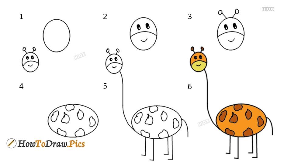 How To Draw Giraffe Cute