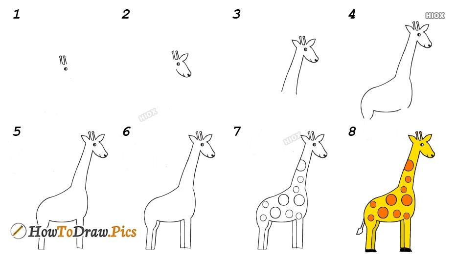 How To Draw Giraffe Easy