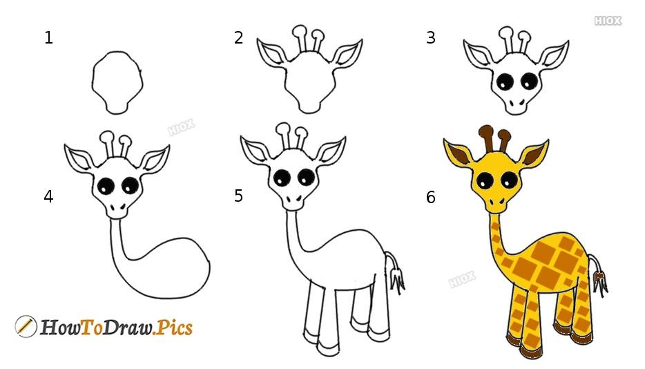 How To Draw Giraffe Print