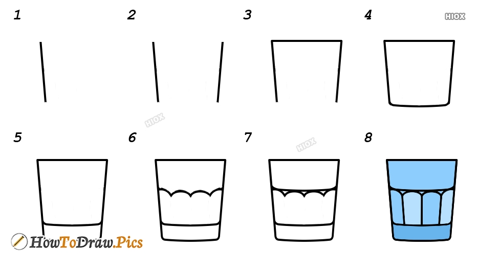 How To Draw Glassware Step by Step Pictures