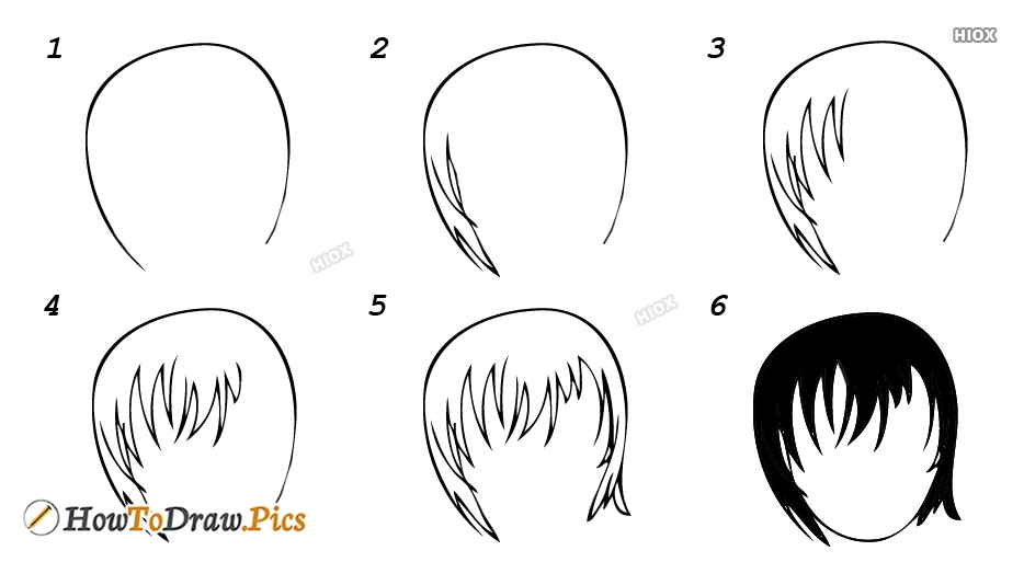 How To Draw Hairstyles Step By Step Images