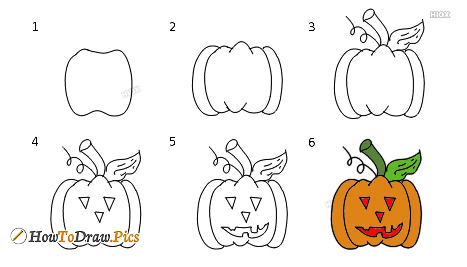 How To Draw A Pumpkin | Step By Step Drawing Tutorial