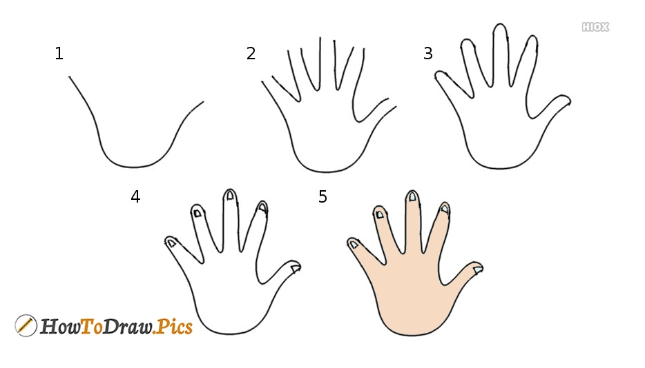 How To Draw A Hand With Images