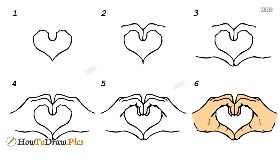 How To Draw Heart Hands In Easy Howtodraw Pics