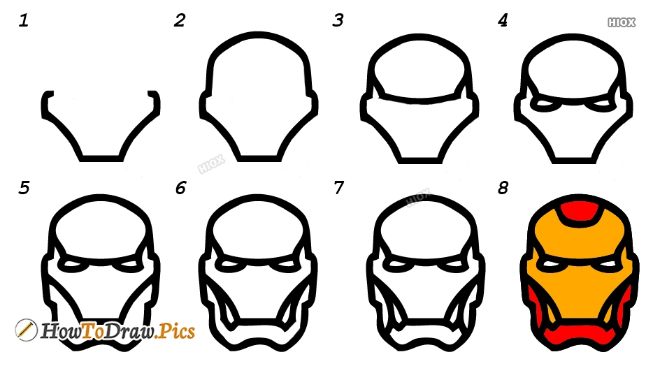 How To Draw Iron Man Step By Step Images
