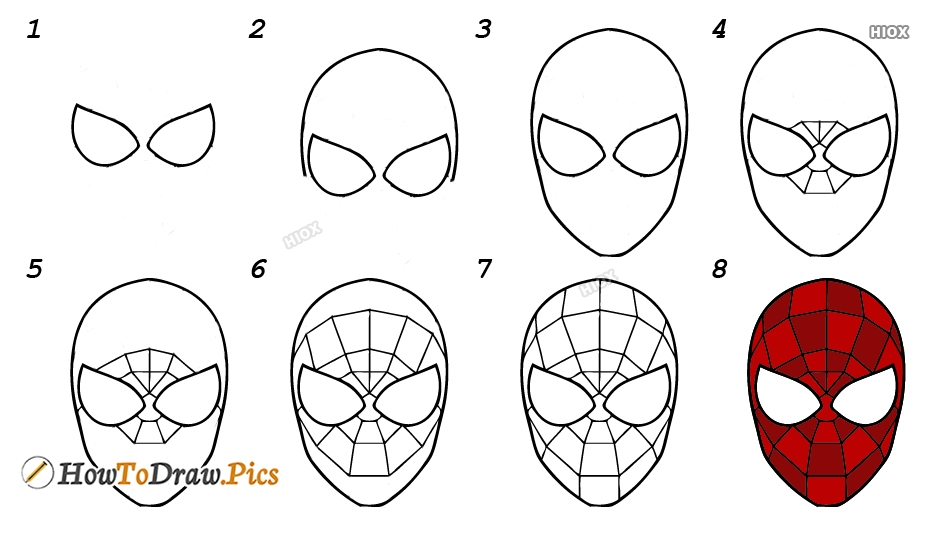 How To Draw Spiderman Step By Step Pictures