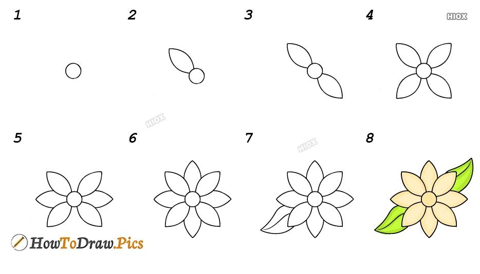 How To Draw Jasmine Easy