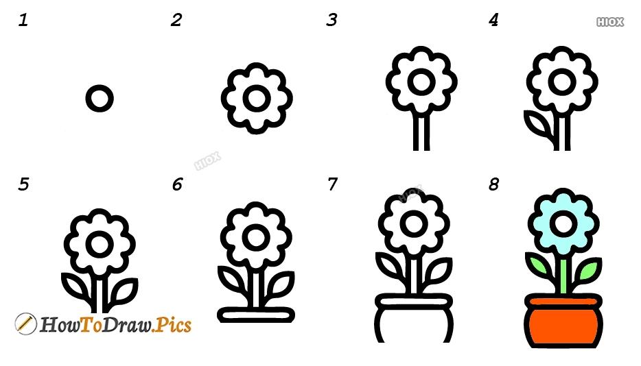How To Draw Jasmine Plant
