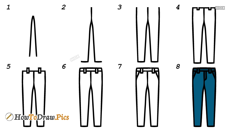 How To Draw Jeans Step By Step Images
