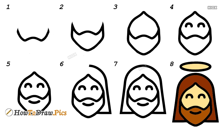 How To Draw Jesus Step By Step Easy Images
