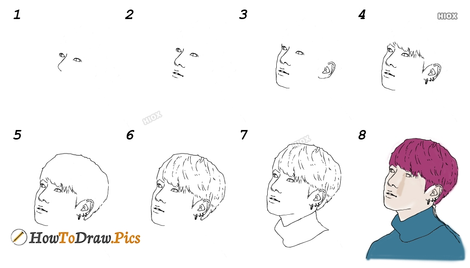 How To Draw Jungkook