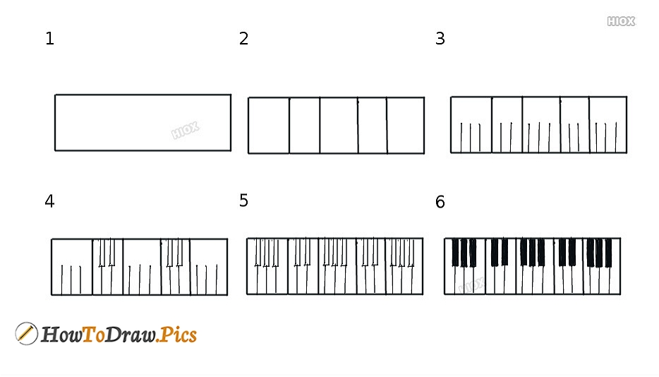 How To Draw Keyboard